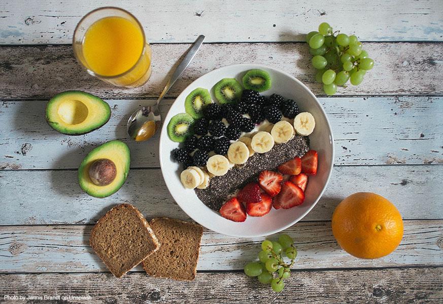 Healthy food, sugarfree, zuckerfrei